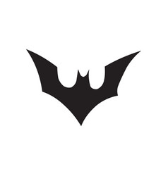 bat icon in flat style icon for apps ui websites vector image