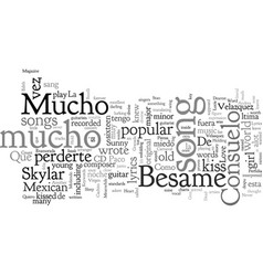 Besame mucho guitar chords and lyrics vector