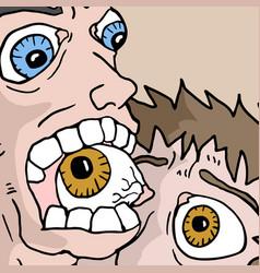 biting eye vector image