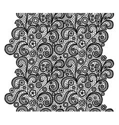 black lacy vintage elegant trim lacy vintage trim vector image