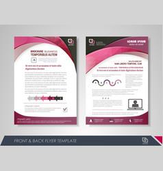Business brochure design template vector