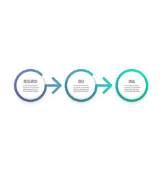 Business process timeline with 3 options vector