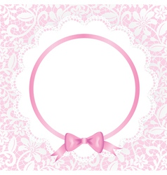 card with lace and napkin vector image