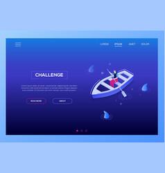 challenge concept - modern isometric web vector image