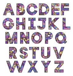 colorful latin alphabet vector image