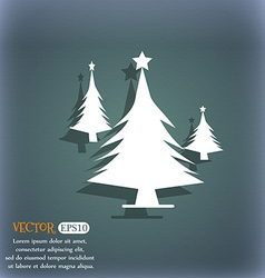 coniferous forest tree fir-tree icon On the vector image
