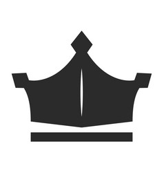 crown icon black monarchy and imperial image vector image
