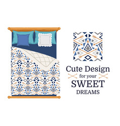 cute design for bed linen vector image