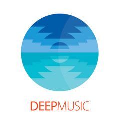 Deep music logo poster vector