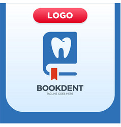dental clinic book icon logo design element vector image