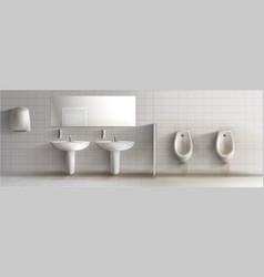 Dirty public toilet realistic interior vector