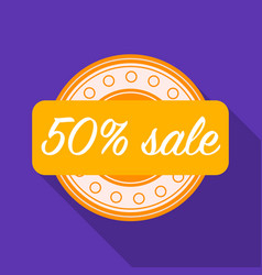 discount icon in flat style isolated on white vector image