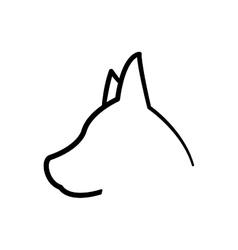 dog love pet animal icon graphic vector image