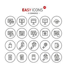 easy icons 40b e-commerce vector image