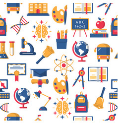 Education colorful seamless pattern vector