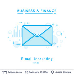 email marketing symbol on white vector image