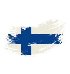 Finnish flag grunge brush background vector