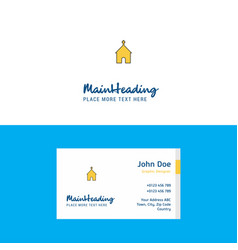 flat church logo and visiting card template vector image