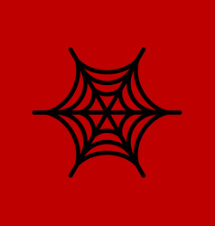 Flat icon stylish background spiders web vector