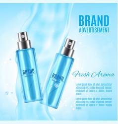 freah aroma spray ads vector image