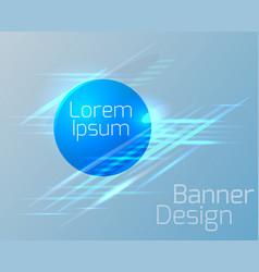 Geometric circular banner vector