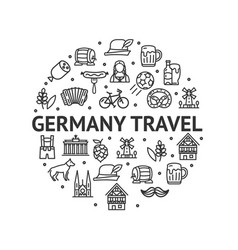 german culture round design template contour lines vector image