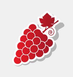 grapes sign new year reddish vector image