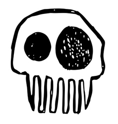 Hand drawn sketch skull Cartoon skull vector
