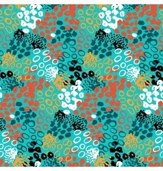 Hand painted pattern with splatters vector image