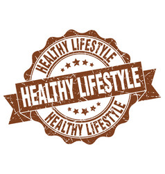 Healthy lifestyle stamp sign seal vector