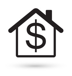 house with dollar sign icon vector image