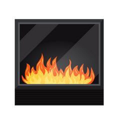 Icon black modern electric or gas cozy vector