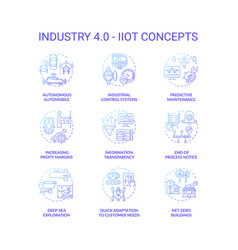 Industry 40 concept icons set vector