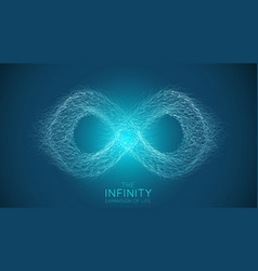 Infinity expansion life infinity sign vector