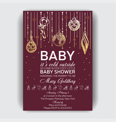 invitation card for bashower vector image