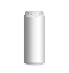 light and shiny aluminum cans vector image