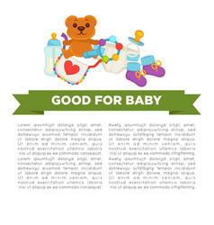 motherhood happy mother and newborn child poster vector image