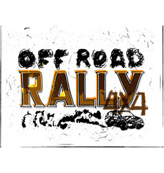 off road rally poster vector image
