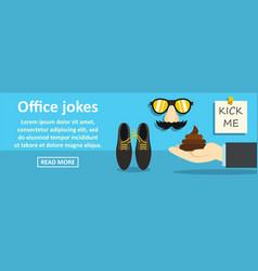 office jokes banner horizontal concept vector image