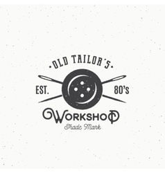 Old Tailors Workshop Vintage Sewing or Clothing vector image