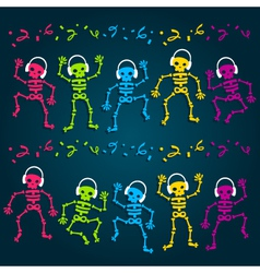 Party Skeletons vector