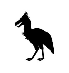 Phorusrhacos prehistoricbird silhouette extinct vector