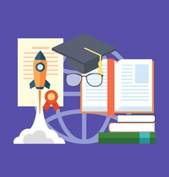 Potential of education concept Flat design stylish vector image