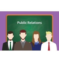 Public relations concept vector