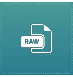 RAW image file extension icon vector image