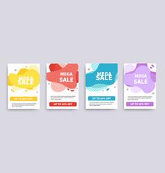 sale banner or flyer template mega sale offer vector image