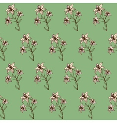 Seamless floral abstract background for design vector image