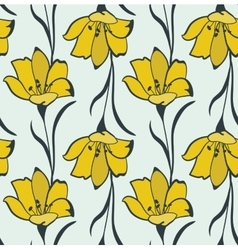 Seamless Flower Buttercup Pattern vector