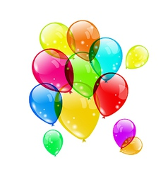 Set colorful balloons on white background for your vector image