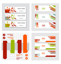 Set of abstract corporate business banner vector